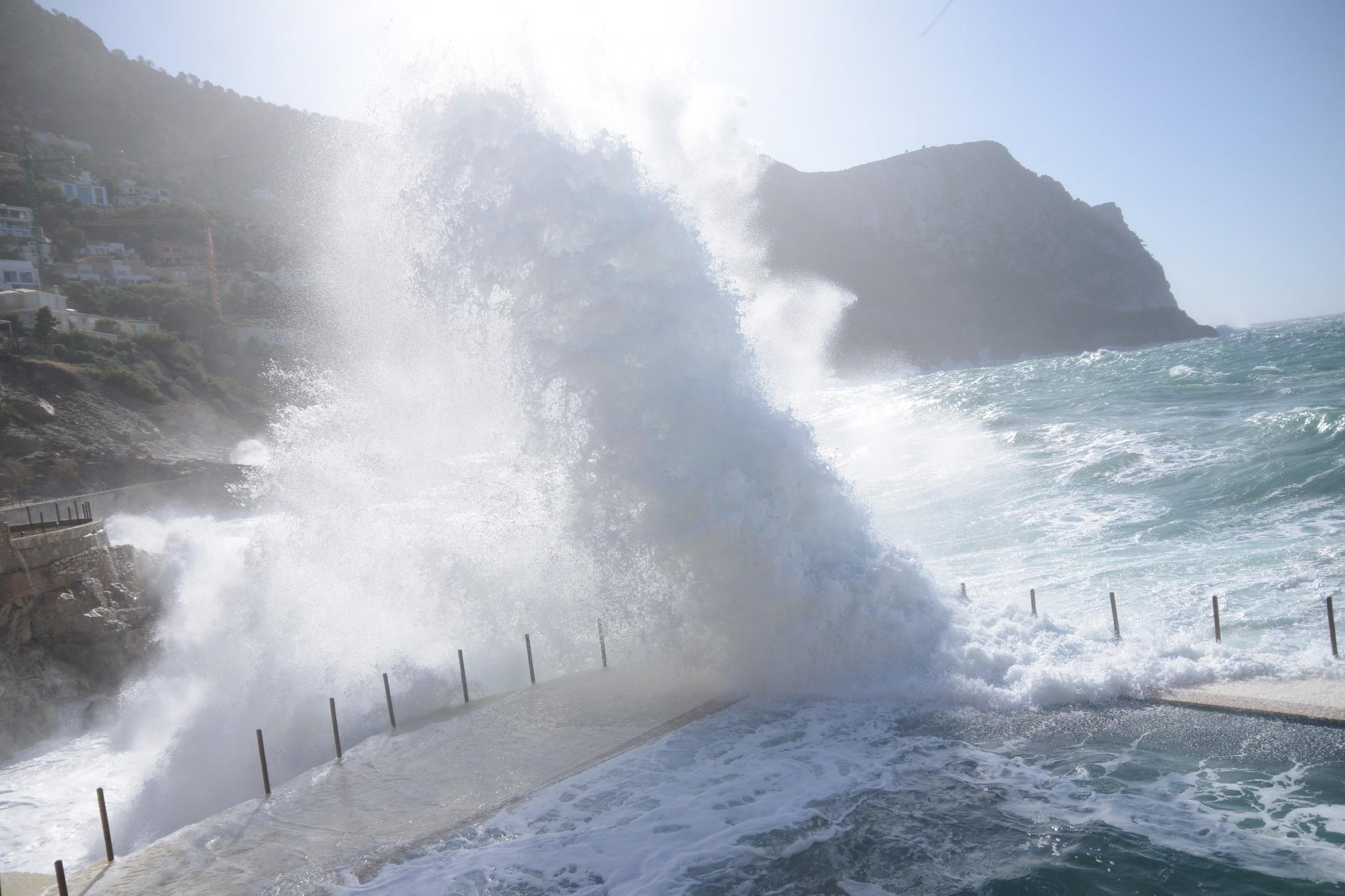 High winds hit Majorca over the weekend