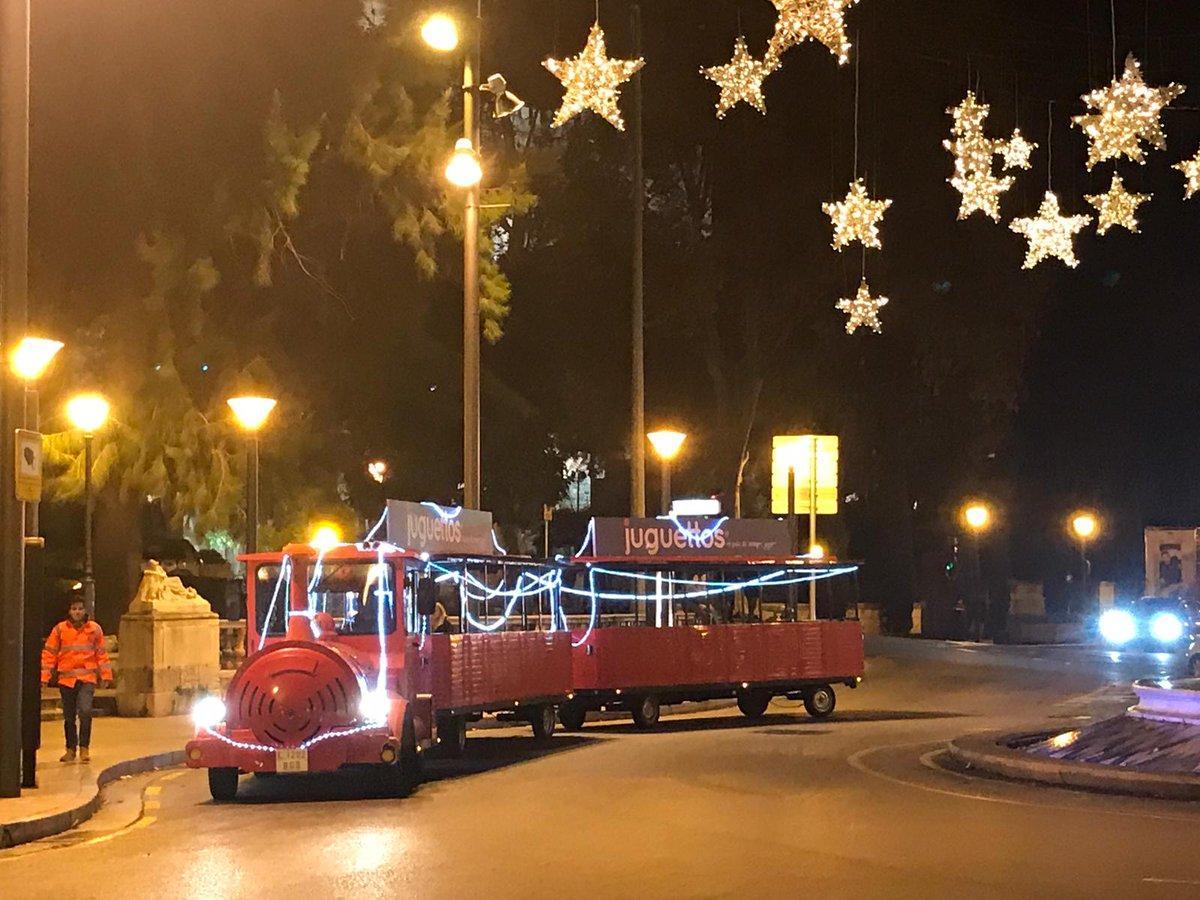 The Christmas train in Palma