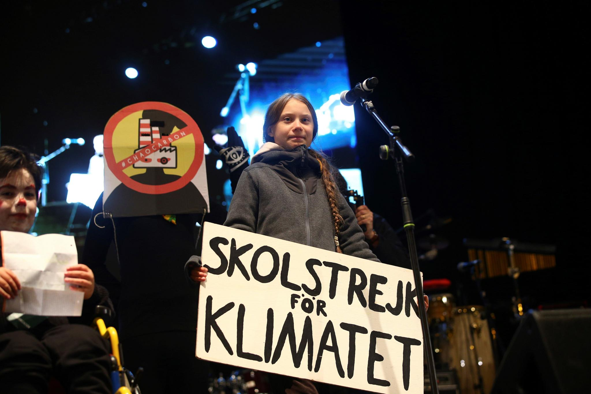 Greta Thunberg at the Climate Change protest in Madrid