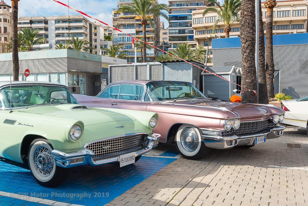 Cadillac and Ford Thunderbird look on