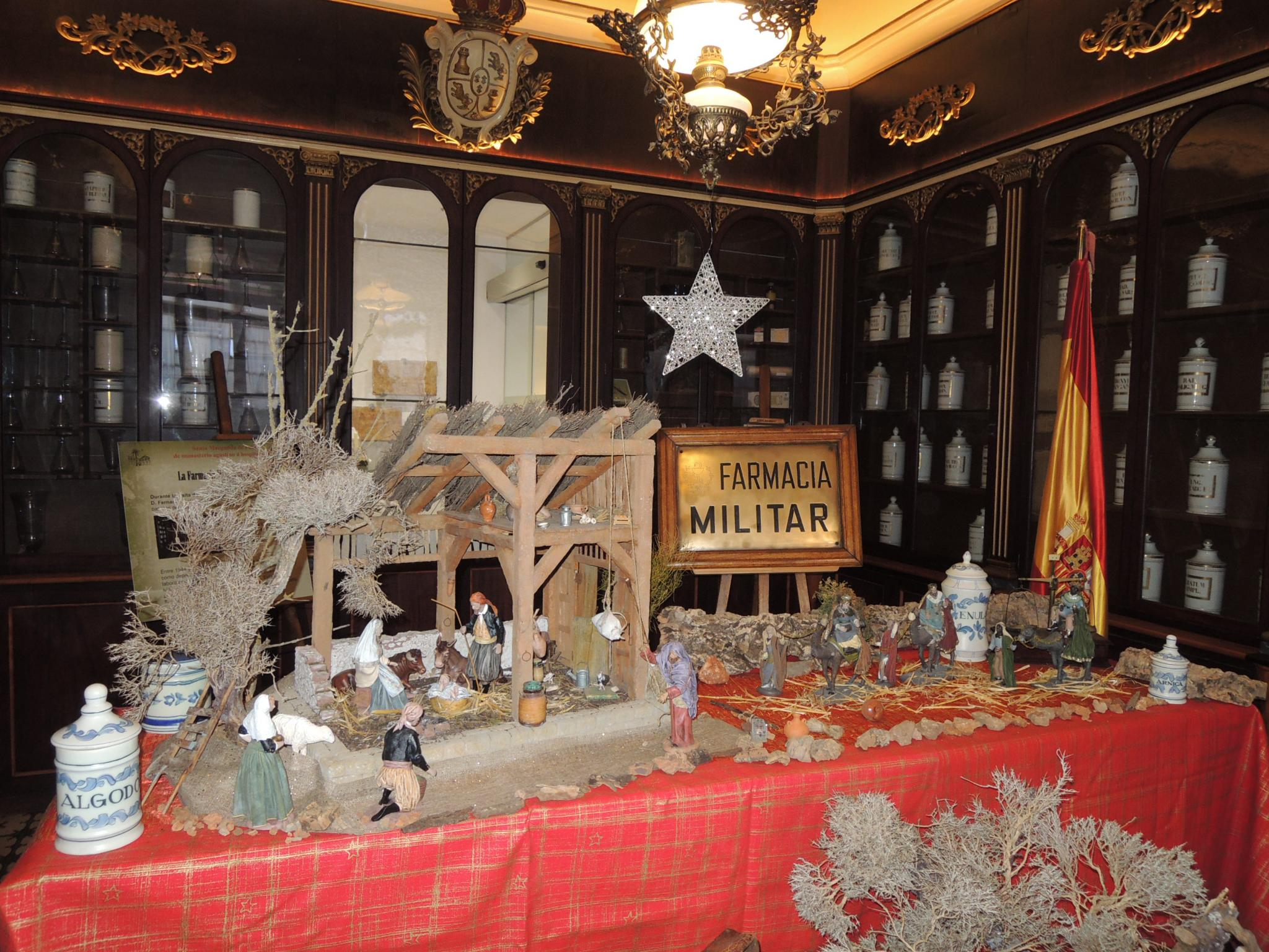 One of the nativity scenes to be found at the fair