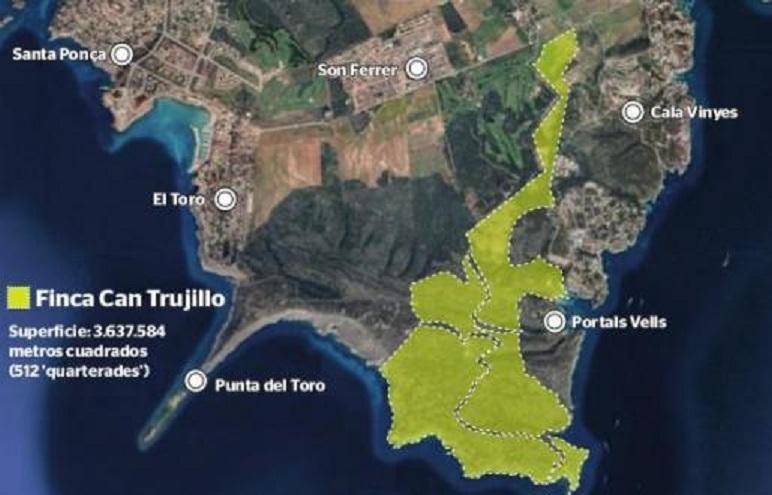 Graphic of the Can Trujillo estate