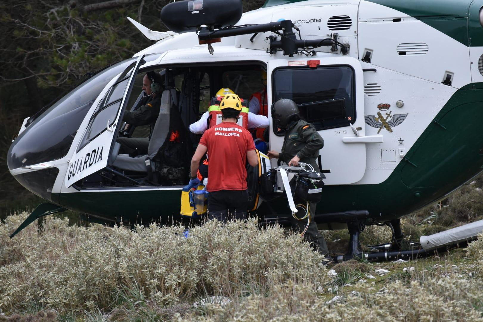 The woman suffered a heart attack whilst hiking