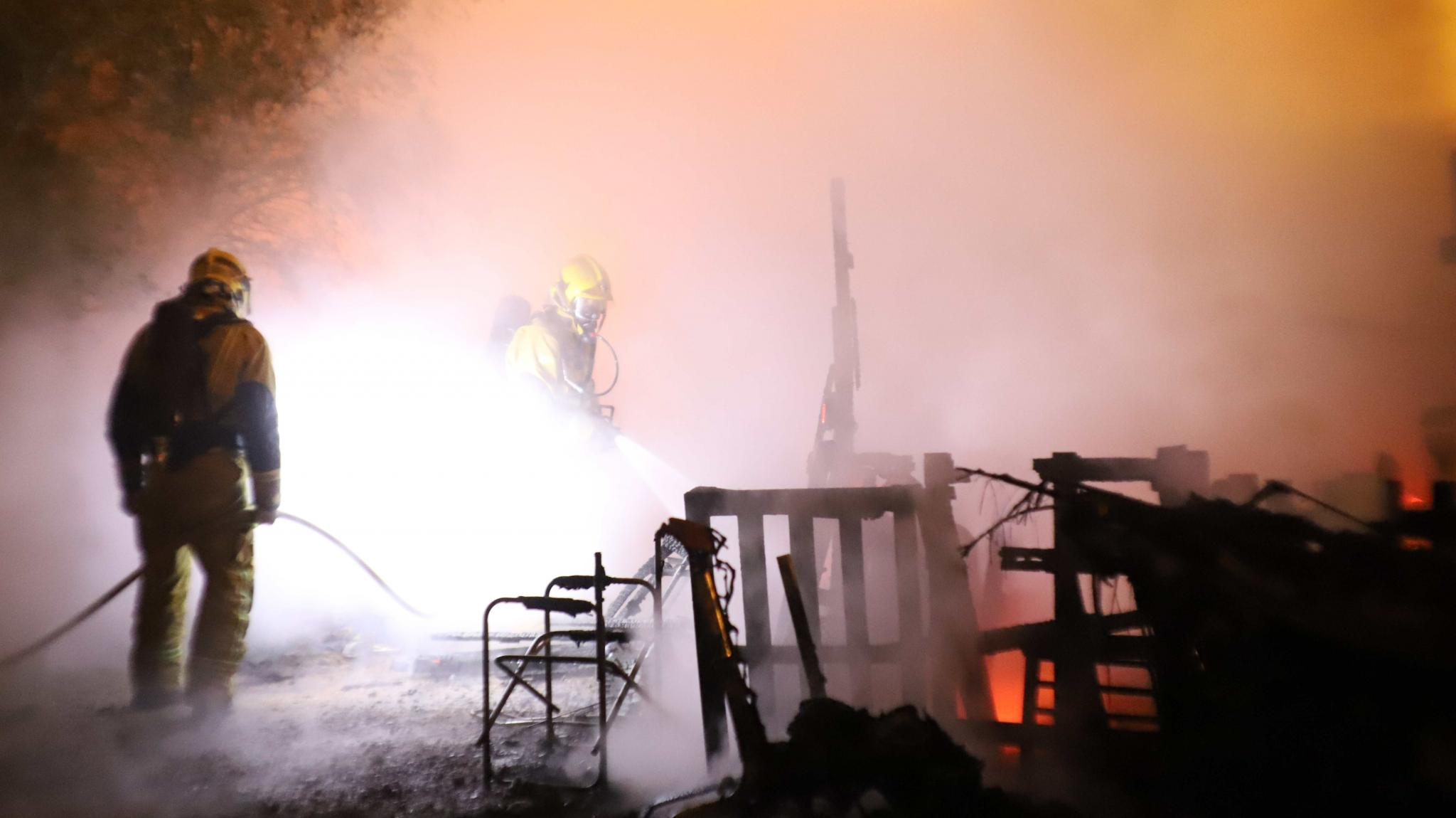 The fire spread to 3 homes in the shanty town