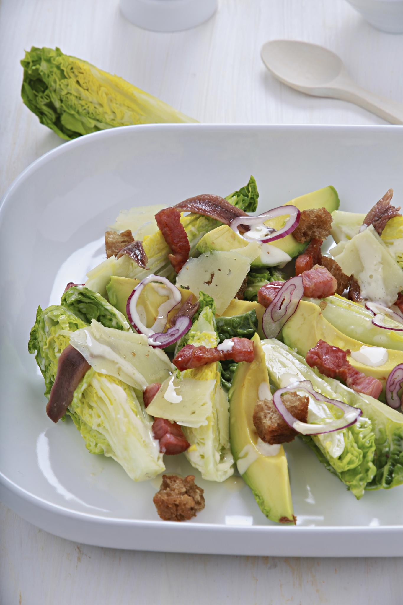 Avocado & bacon Caesar Salad
