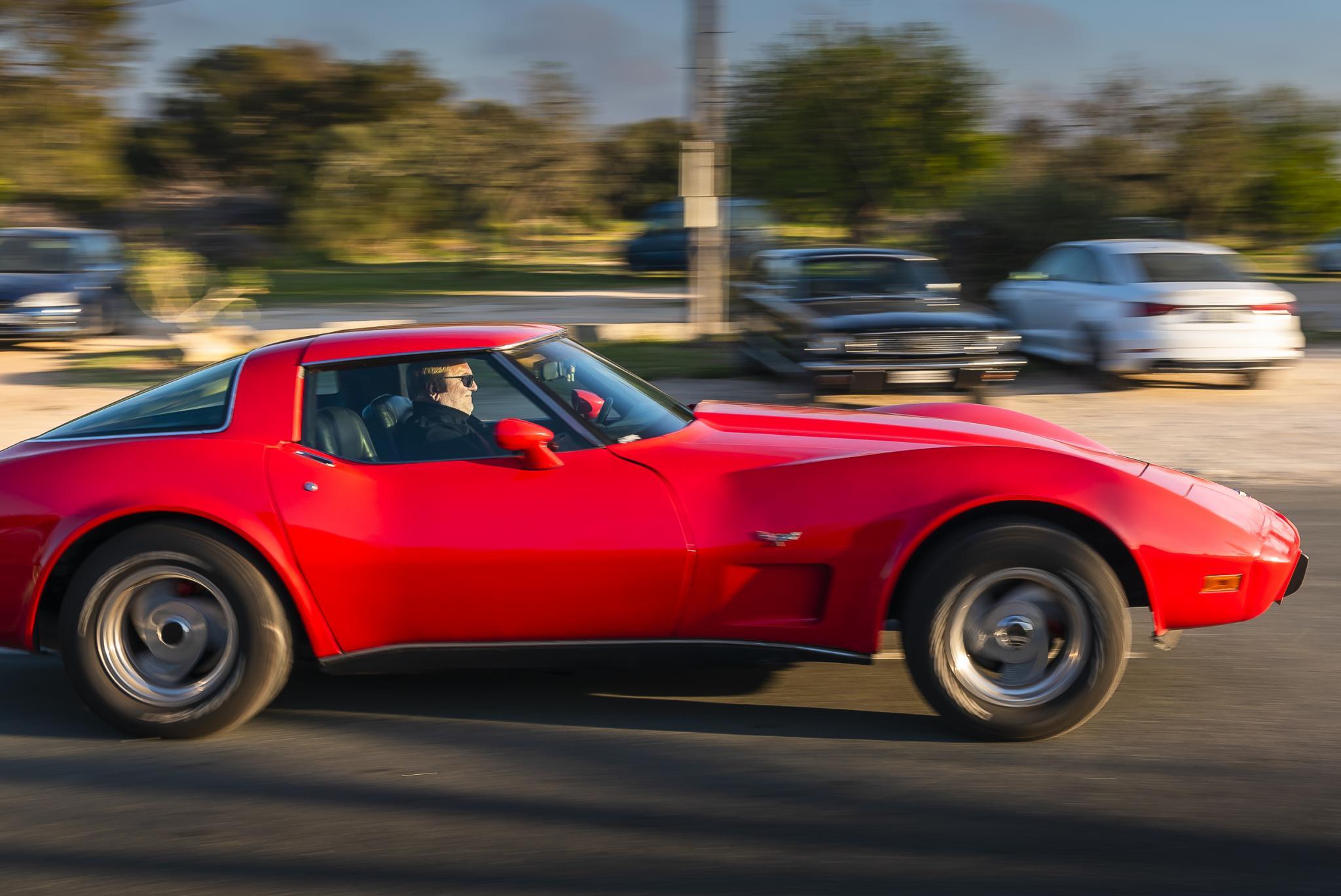 '70's Corvette on take off
