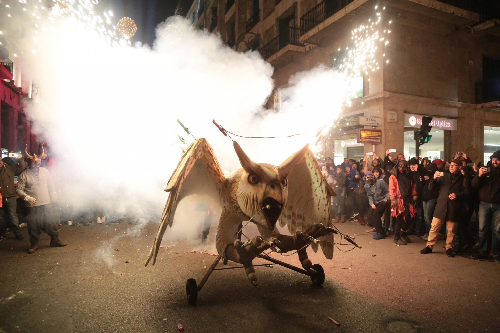 The correfoc of Sant Sebastia