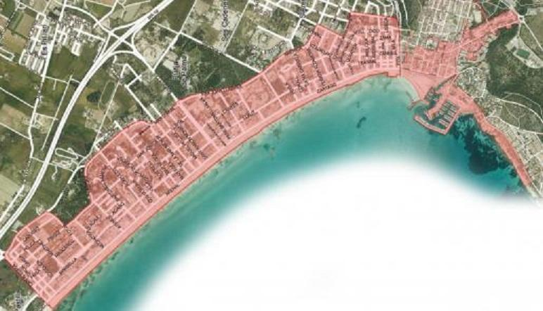 The area of Playa de Palma and Arenal where the new laws will be enforced.