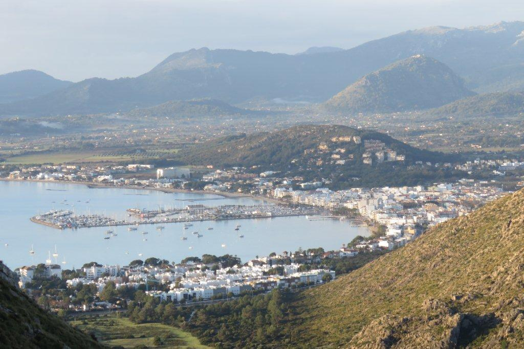 Puerto Pollensa and Gotmar from Alburcutx.
