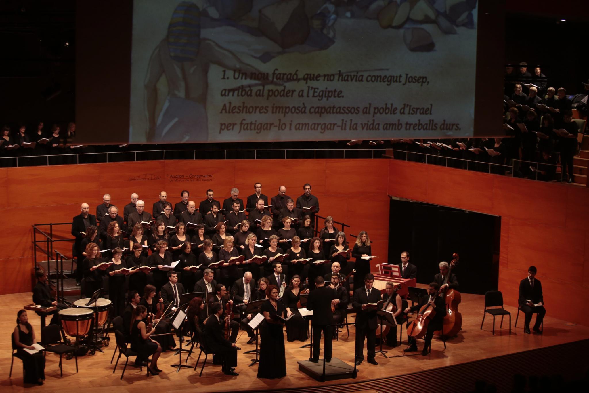 ejecución del oratorio ¿ Israel a Egipto¿, de G. F. Haendel, por la Orquesta y Cor Acadèmia 1830