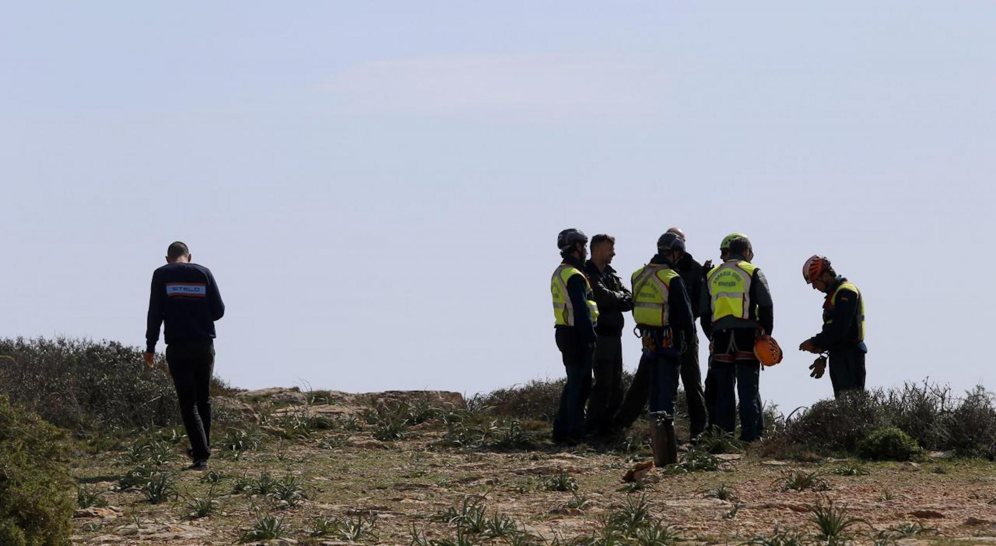 Guardia Civil Investigators at Cap Blanc.