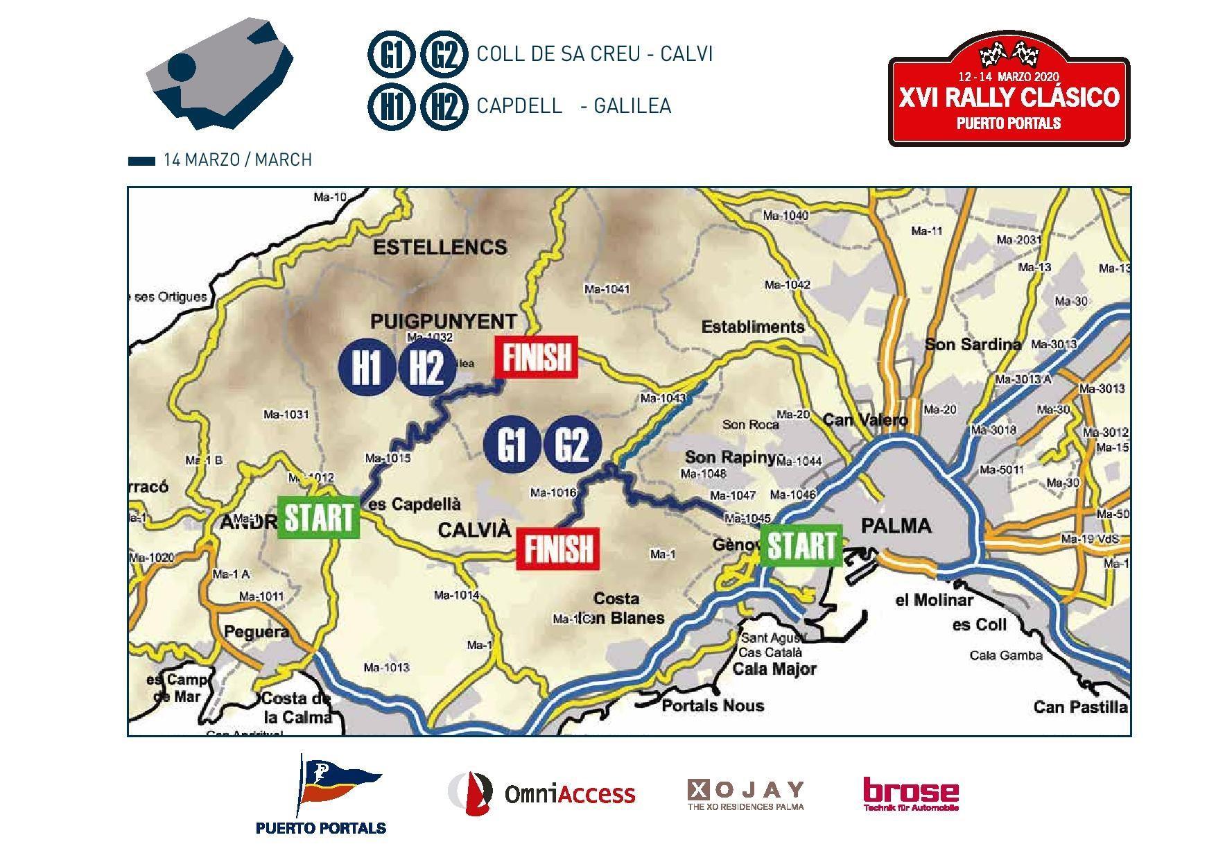 Saturday's route