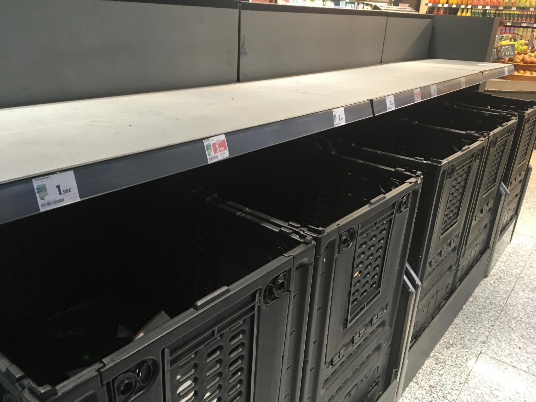 El Corte Inglés runs out of potatoes.