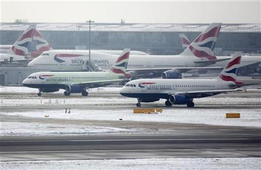 Coronavirus forces BA to ground flights.