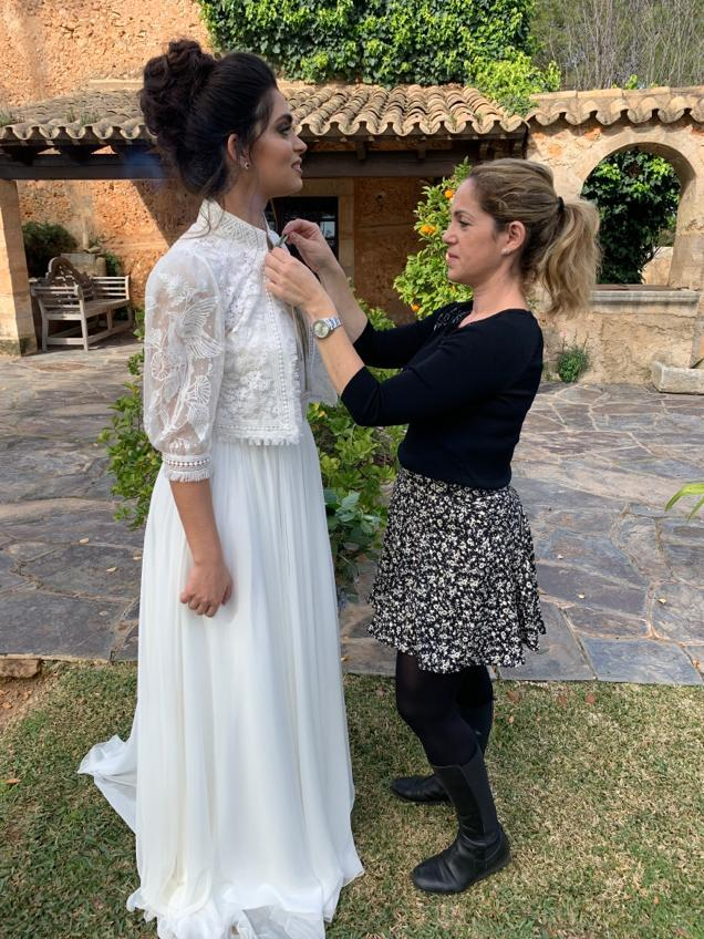 Viviana Hernandez with one of her brides