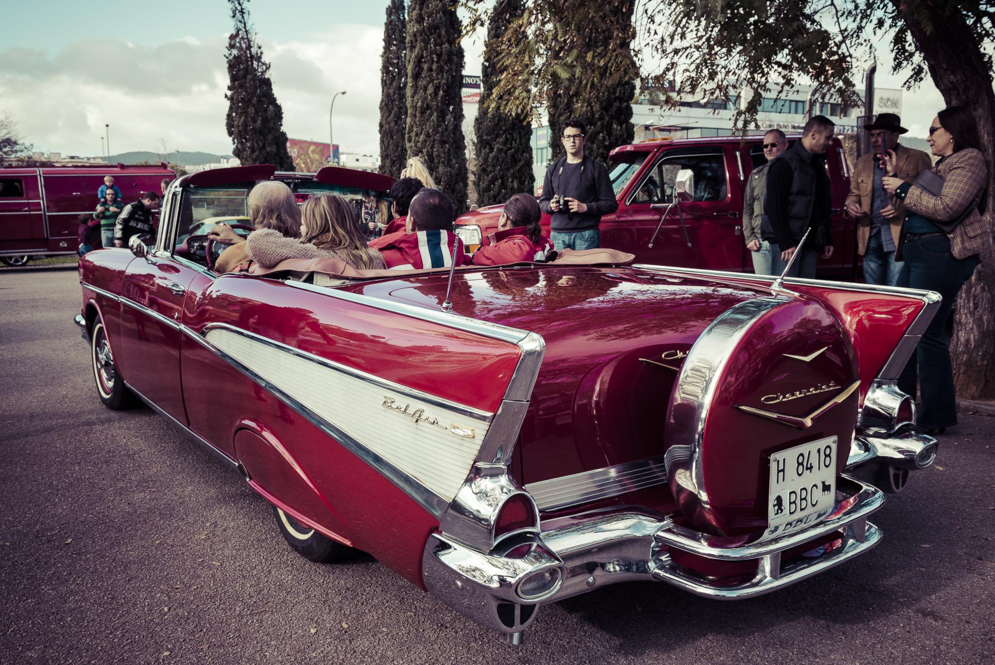 You can fit a few people in your '57 Chevy Belair.