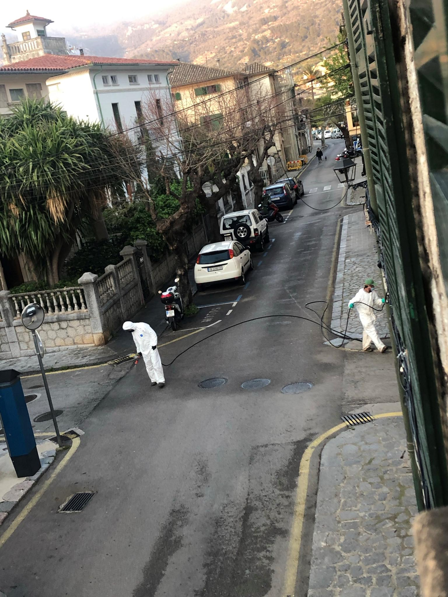 Disinfecting the streets of Soller