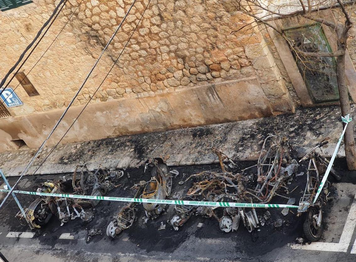 Fire in Soller destroys electricity and internet cables.