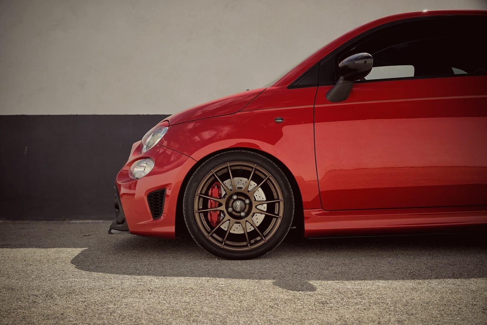 Very graphic composition of the 'Pocket Rocket' better known as the Fiat Abarth