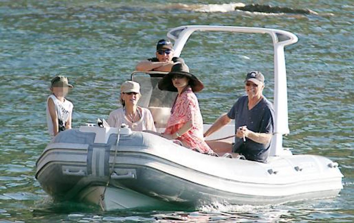 Michael Douglas & Catherine Zeta Jones in Majorca.