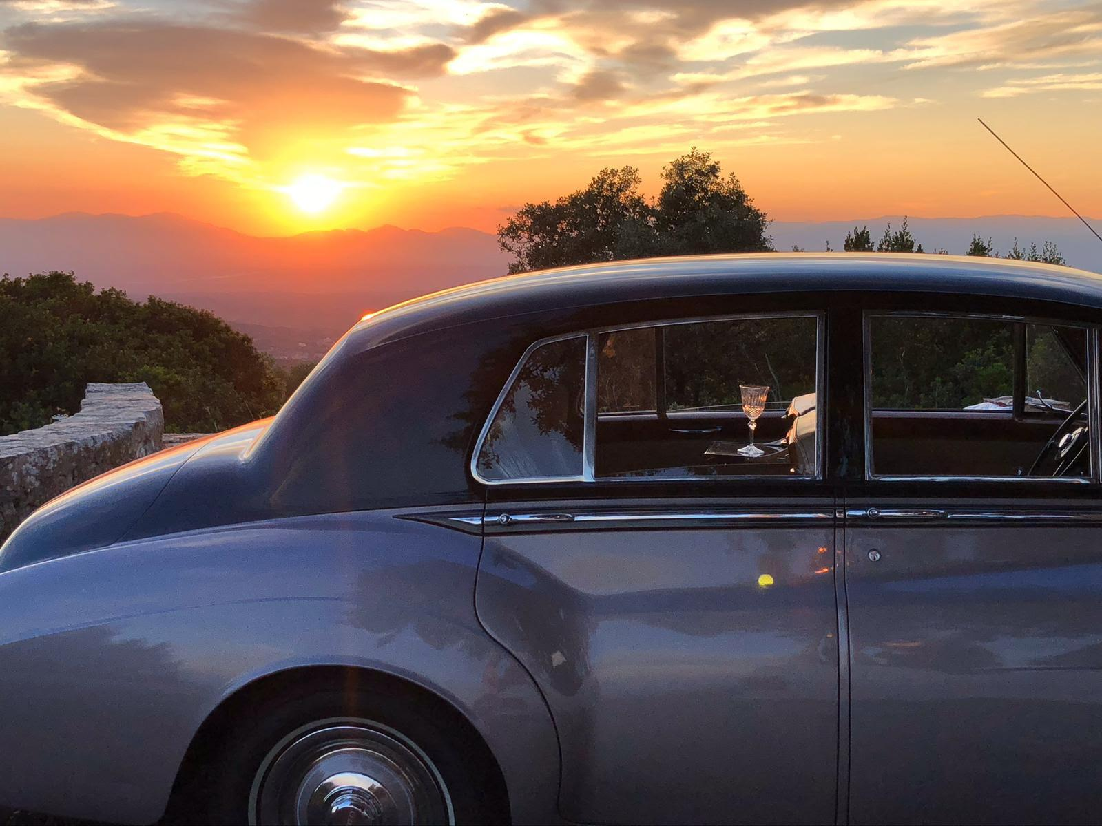 Bentley doing what it does best. Elegance and style, sunset at Randa.