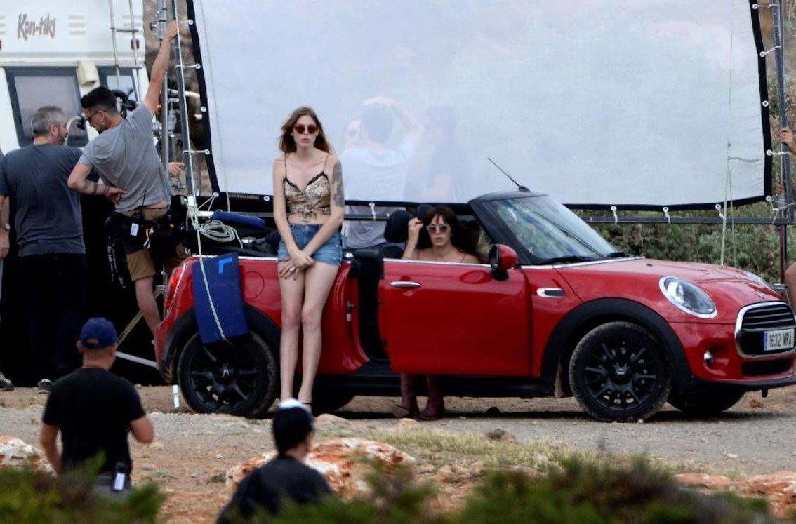 'White Lines' filming in Majorca.