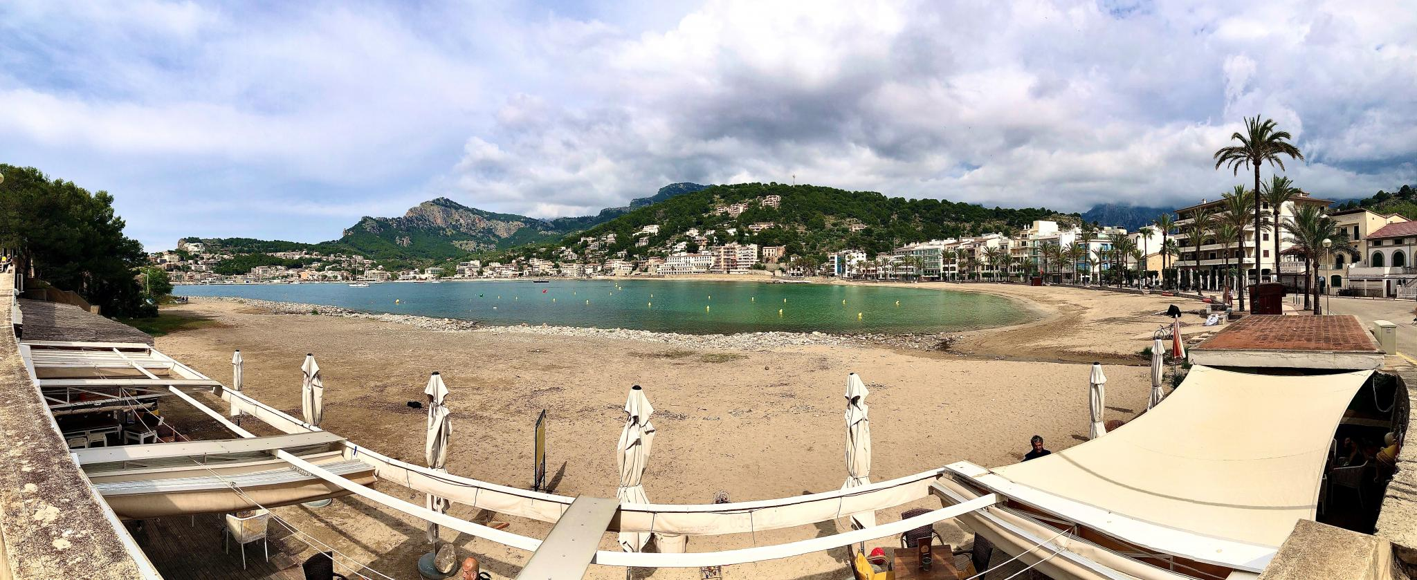 Repic beach in the Port of Soller.