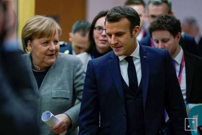 Angela Merkel, German Chancellor & Emmanuel Macron, French President.
