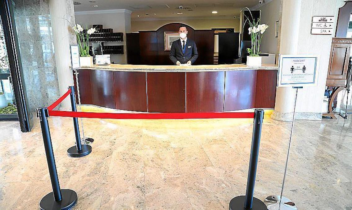 Health & Security restrictions in place at Hotel Receptions
