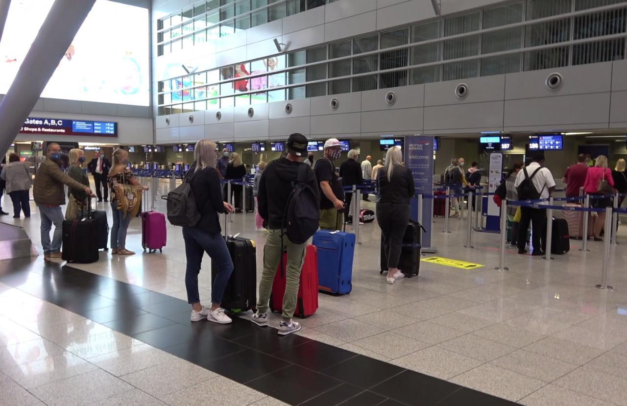 The first group of German tourists have landed in Palma.