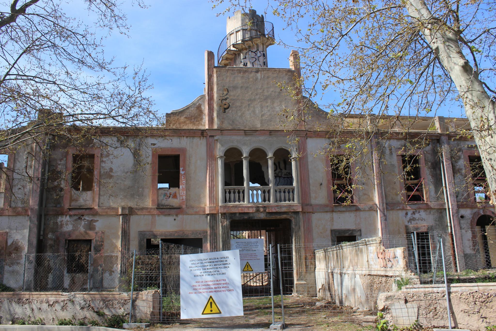 POLLENÇA PATRIMONIO. Aspecto actual de la antigua fábrica Can Morató .