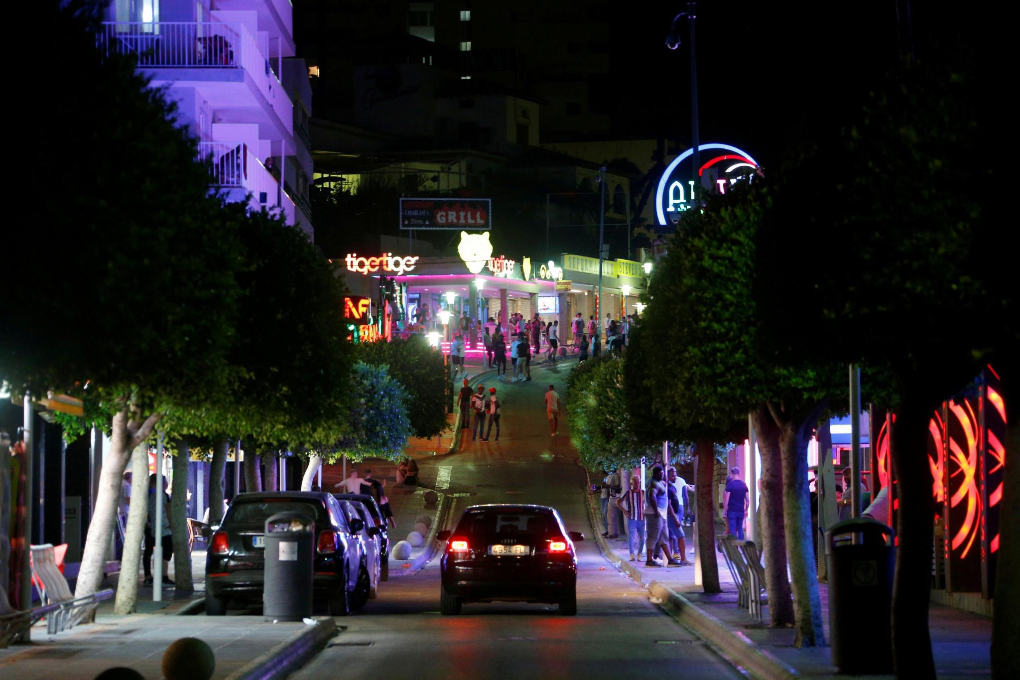 FILE PHOTO: A general view of Punta Ballena street in Magaluf