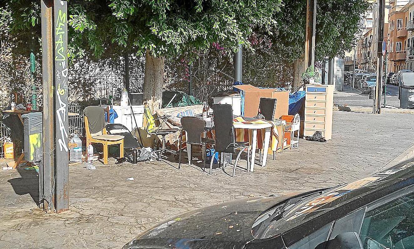 Homeless settlement, Palma.