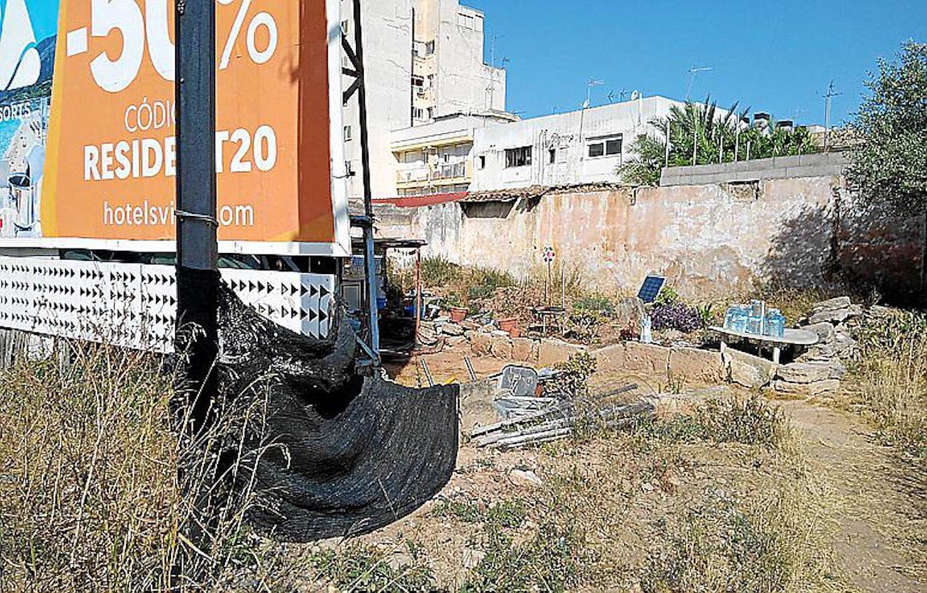 Homeless Settlement in Carrer d'Aragó, Palma.