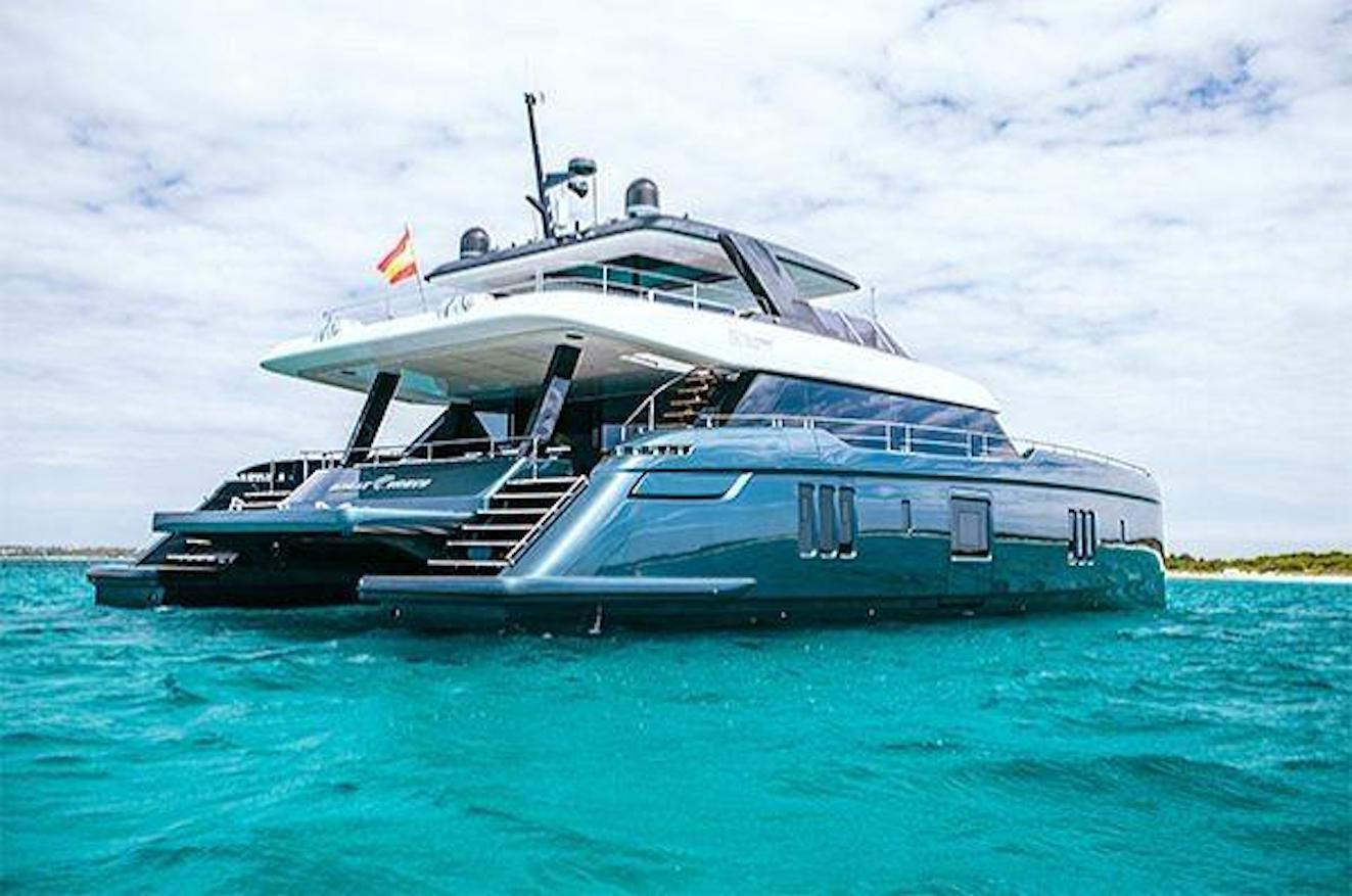 Rafa's luxurious catamaran.