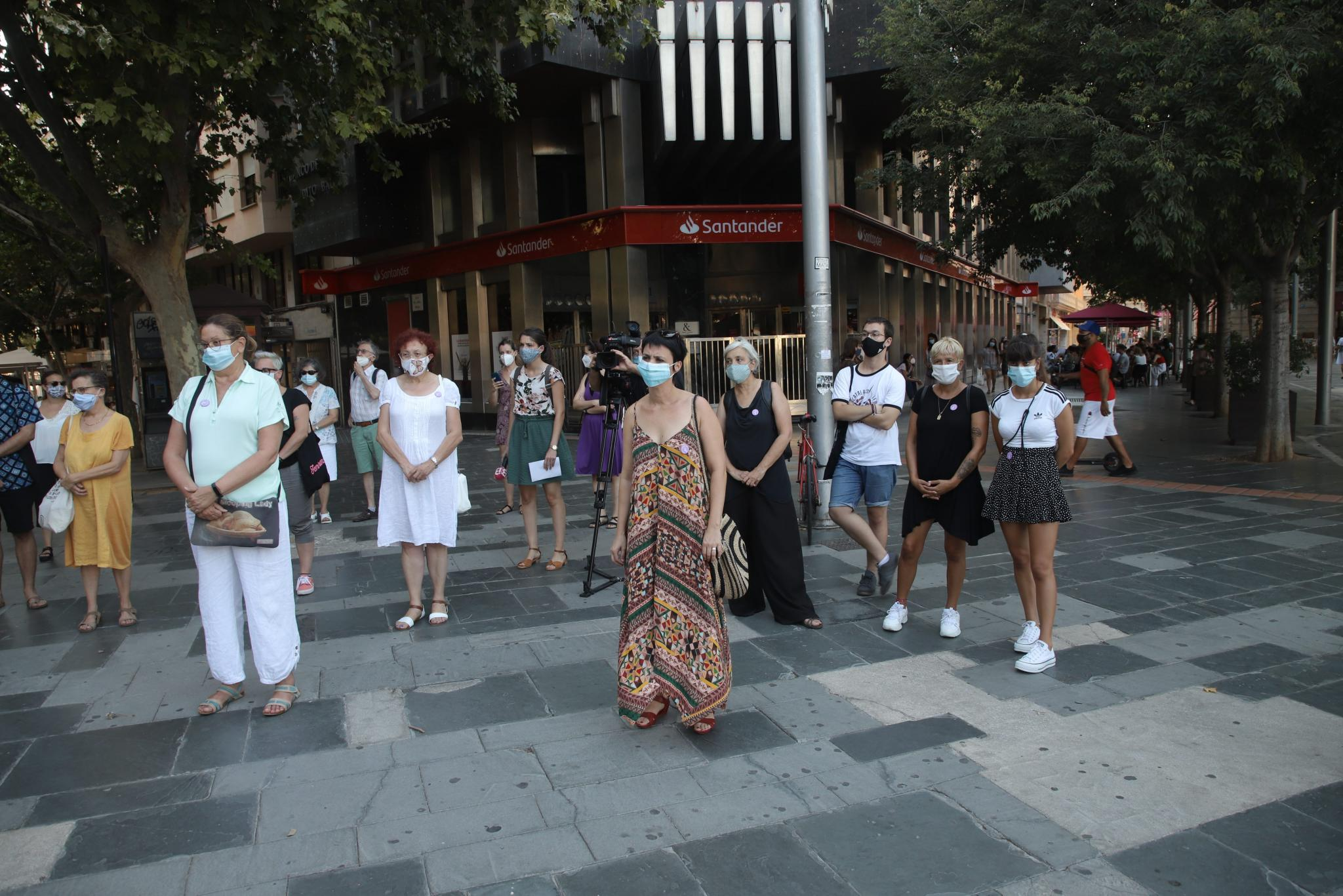 Gathering to protest against domestic violence in Palma