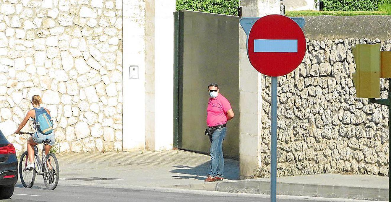 Security Guard at Marivent Palace, Palma.