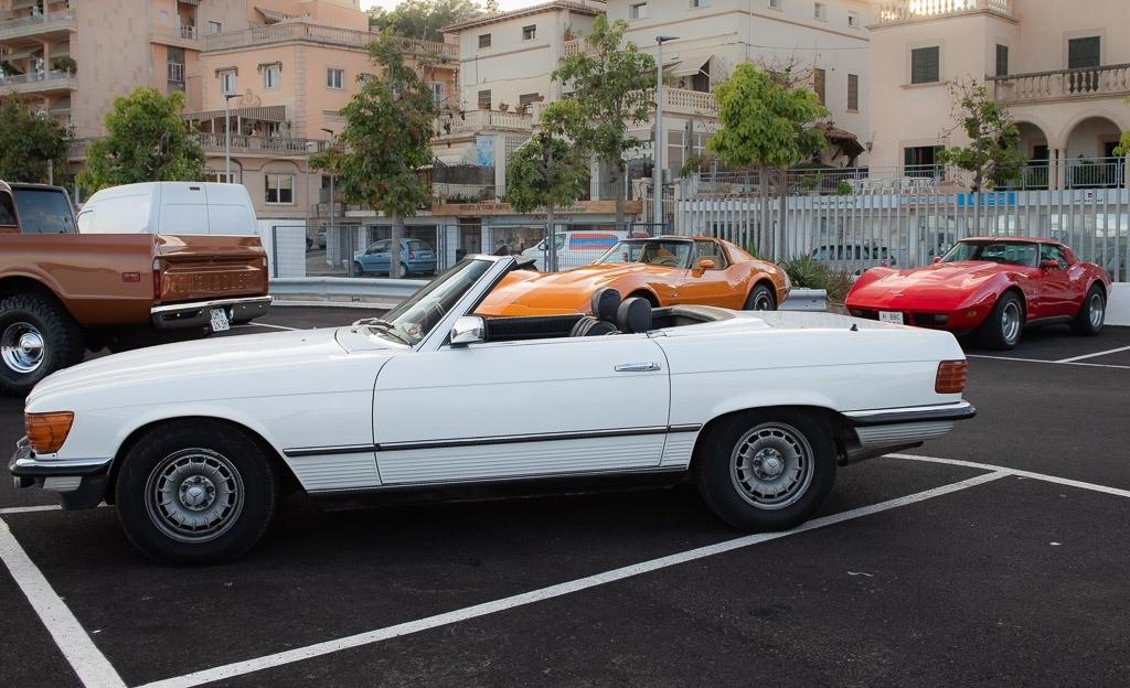 There's nothing quite like a Mercedes SL with the top down.