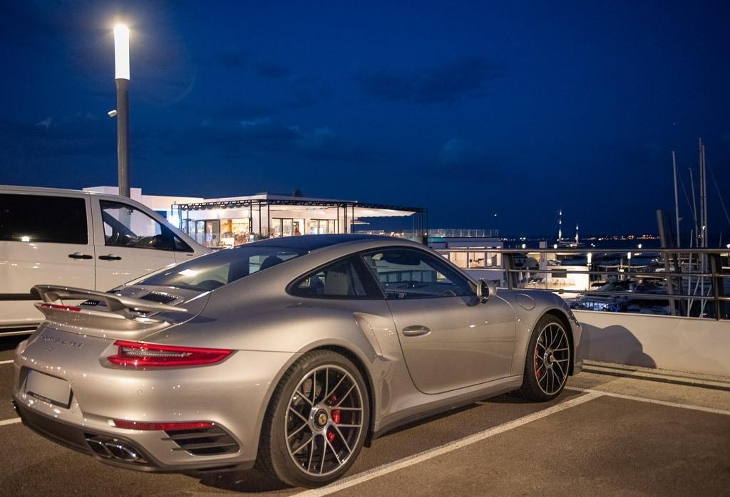 Late Porsche 911 derivative enjoying the evening light.