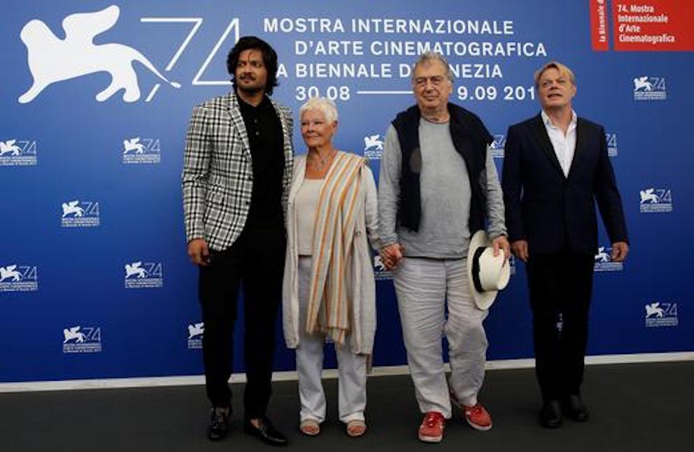 Ali Fazal, Judi Dench, Stephen Frears & Eddi Izzard at 'Victoria & Abdul' photocall.