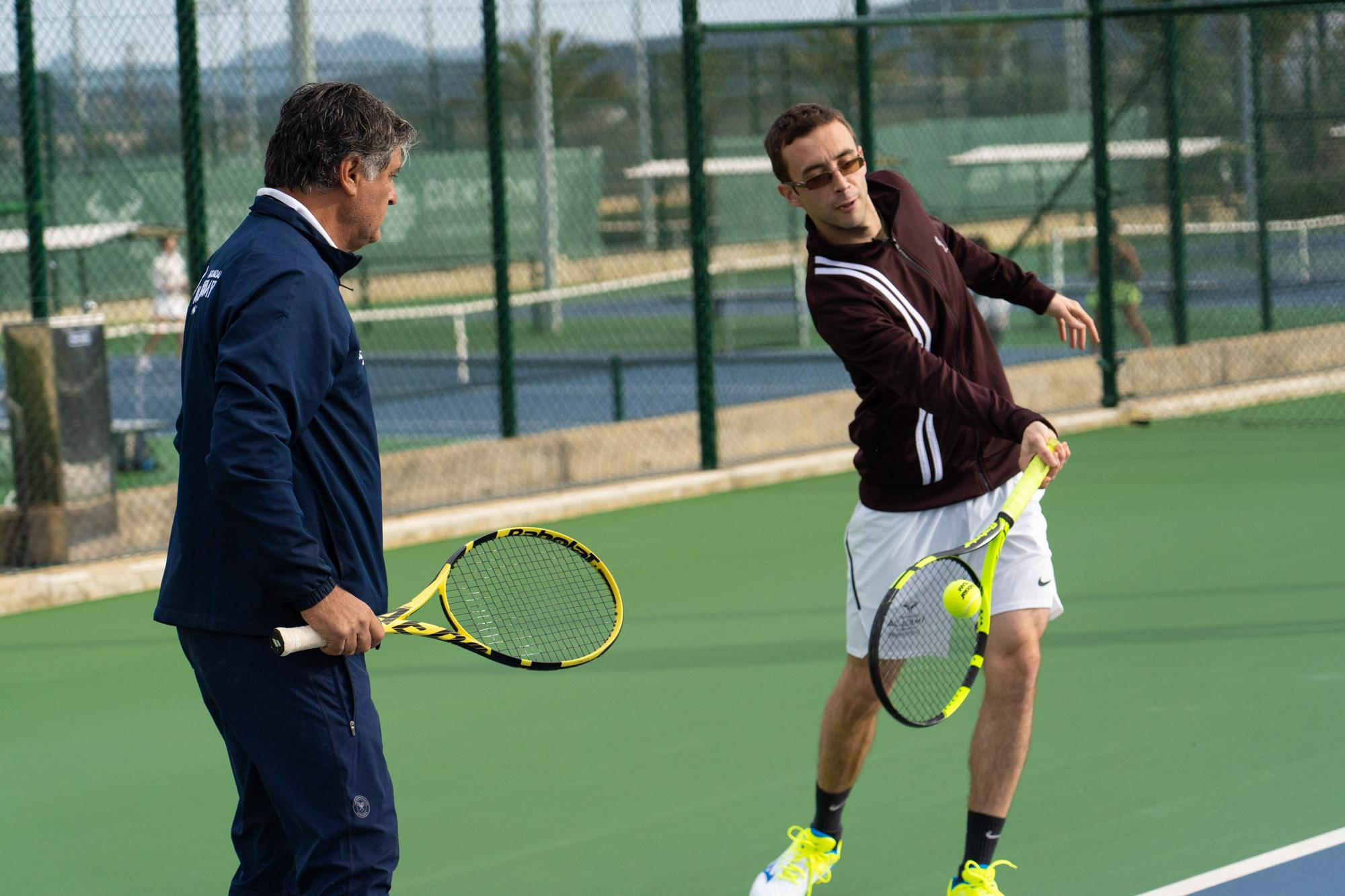 Toni Nadal, with the adults programme