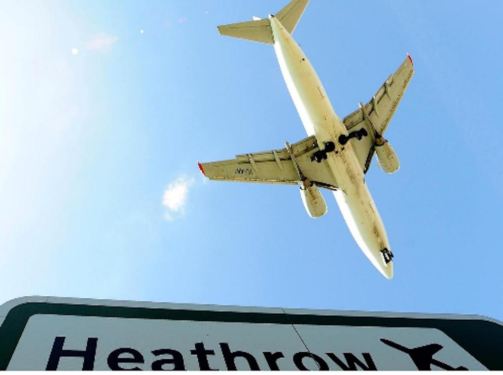 Heathrow Airport, London.