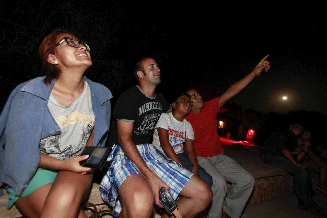 People watching the Perseid meteor shower.
