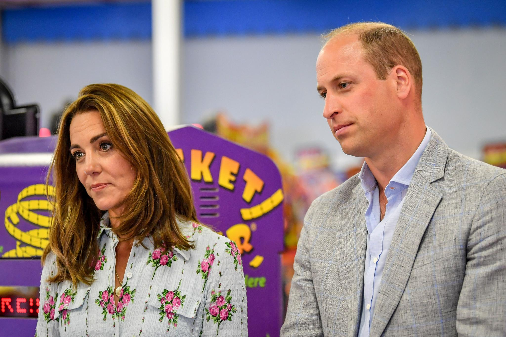 Britain's Prince William and Catherine, Duchess of Cambridge visit South Wales