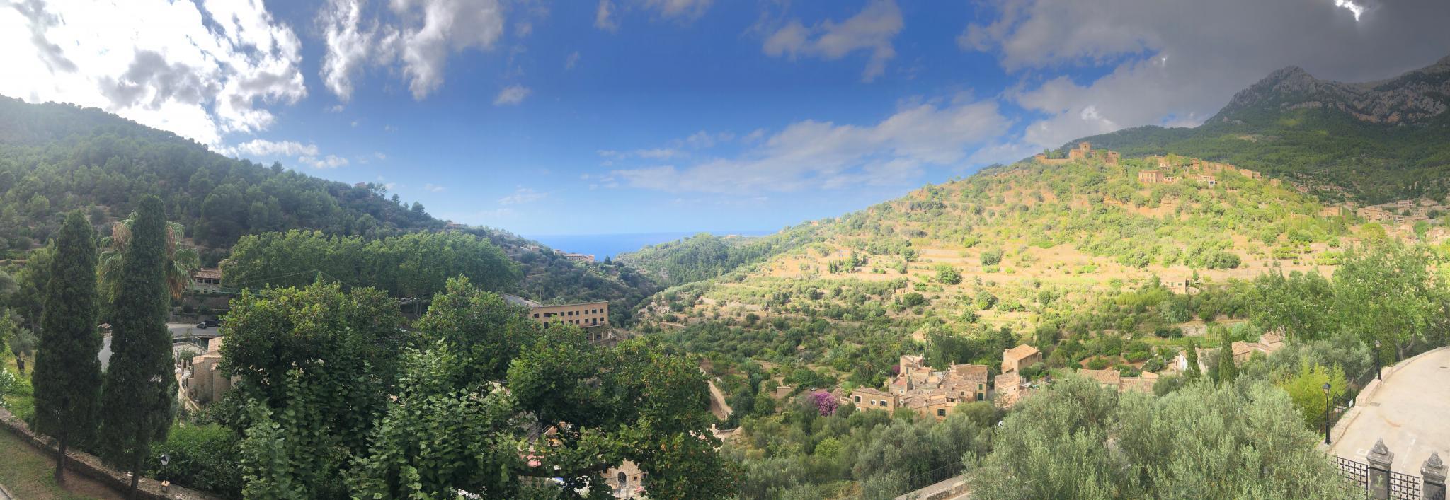 A panoramic of Deya