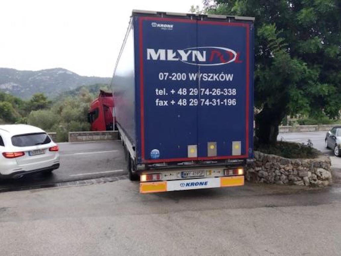 Truck crash on Valldemossa Road, Majorca.
