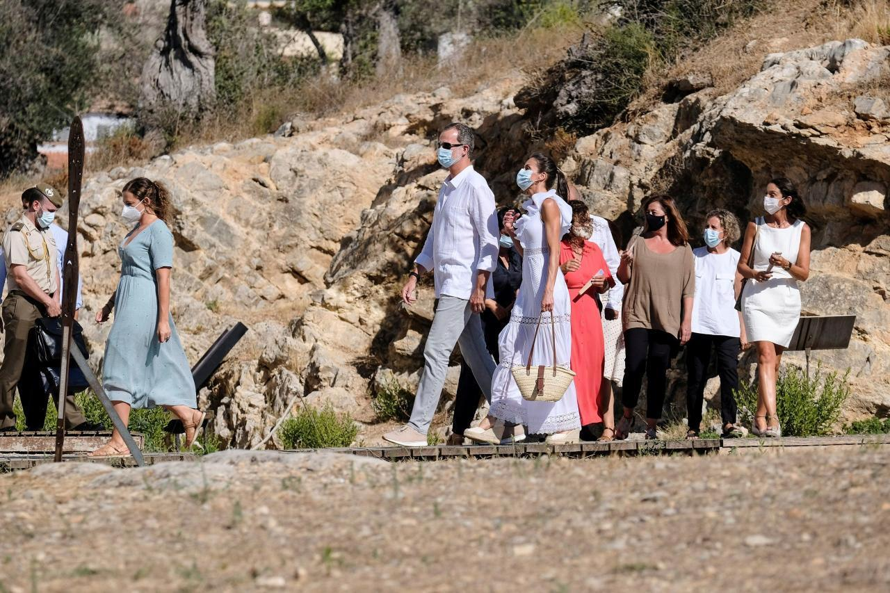 King Felipe VI & Queen Letizia at Puig des Molins, Ibiza.