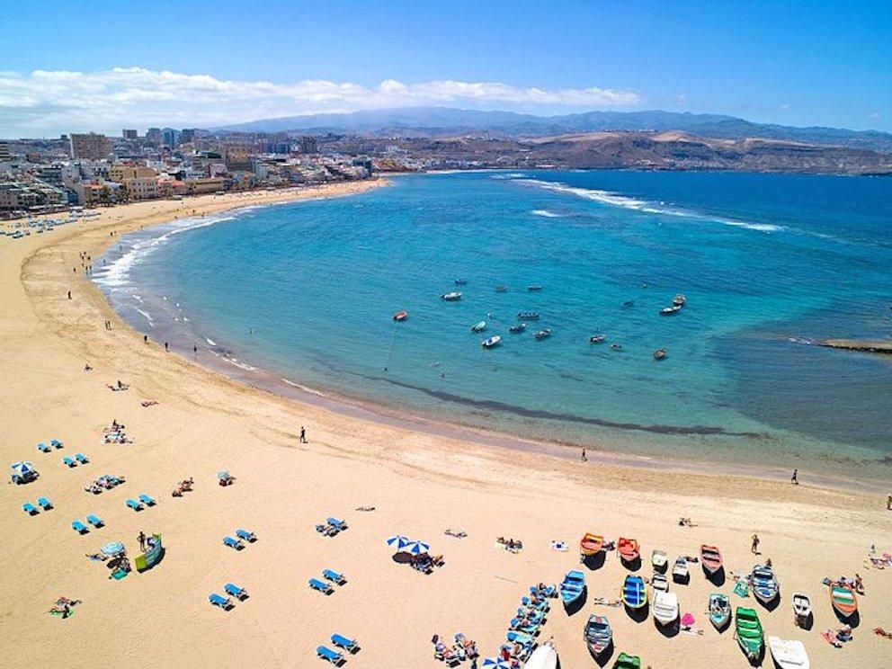 Playa de las Canteras, Las Palmas, Gran Canaria.
