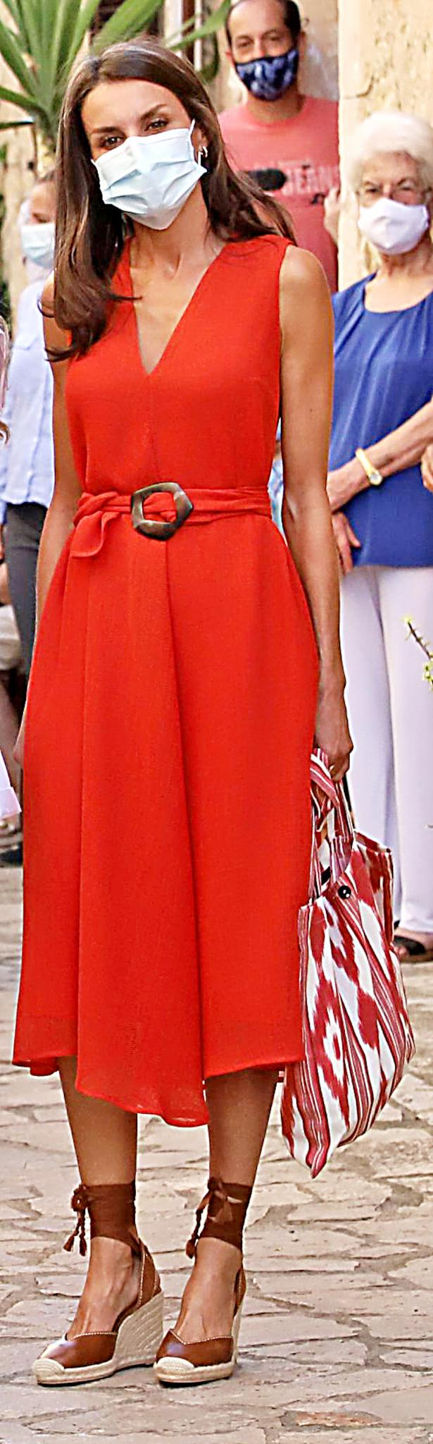 Queen Letizia in Petra.
