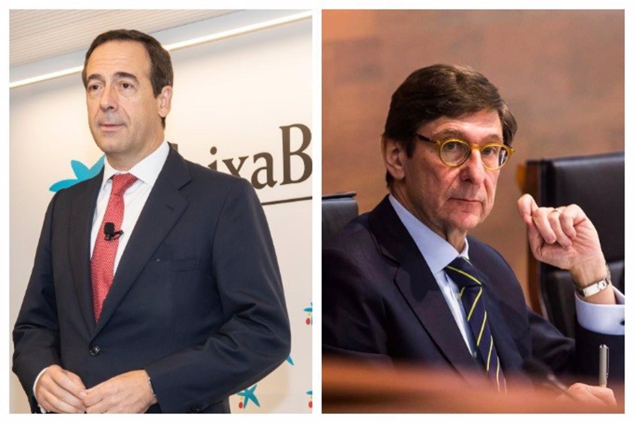 Gonzalo Gortázar, CaixaBank CEO & José Ignacio Goirigolzarri, Bankia President.